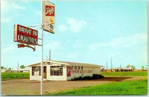Phoenix, Arizona Postcard FARMER QUALITY LIQUOR STORES Schlitz Beer Sign c1960s