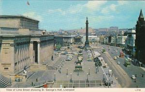 England Liverpool View Of Lime Street Showing St George's Hall