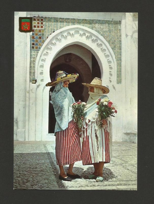 postcard 1960years AFRICA MOROCCO MAROC NATIVES ETHNIC DRESS - COSTUMES  z1