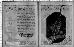 1924 Premier Duplex Vacuum Cleaner Large Vintage Print Ad 4013