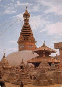 BT13907 Swoyambhu the biggest stupa in the world Nepal         Nepal