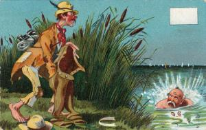 Hobo Comic , 1900-10s ; Swimming Man