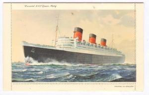 Letter Card, Cunard R.M.L. Queen Mary, Steamer, 1910-1920s