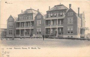 Masonic Home Fort Worth Texas 1908 Rotograph postcard