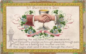 Saint Patrick's Day With Shaking Hands 1911