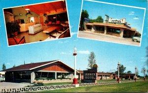 Illinois Litchfield The Annex Motel & Cafe 1961
