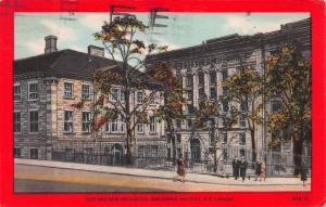 Old and New Provincial Buildings, Halifax, N. S., Canada, Early Postcard, Used