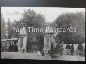c1912 - The Lions Gates HAMPTON COURT showing old car