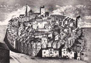 France Arles l'ampitheatre habite au Moyen-Age