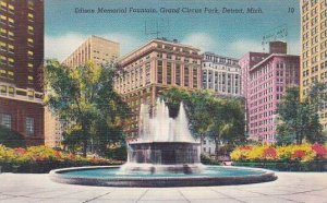 Michigan Detroit Edison Memorial Fountain Grand Circus Park