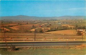 Middletown Valley Maryland MD aerial view U S Route 40 farm land Postcard