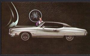 Classic Car Dealer Postcard 1972 PONTIAC Luxury LeMans Hardtop Coupe