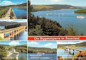 Die Biggetalsperre im Sauerland, Staudamm Listertalbruecke Personenschiff