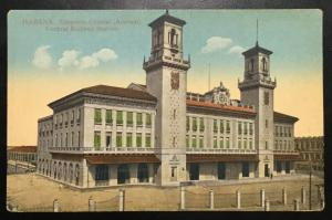 Postcard Unused Central Railway Station No 101 Havana Cuba No 24 LB