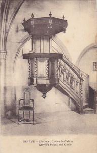 Switzerland Geneve Chaire et Chaise de Calvin