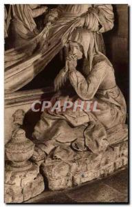 Old Postcard The Saints De Solesmes La Madeleine at the tomb of Christ