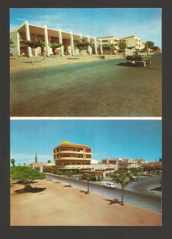 AFRICA AFRIQUE AFRIKA ANGOLA MOÇAMEDES MULTI VIEWS & CAR CARS 1960s POSTCARD z1