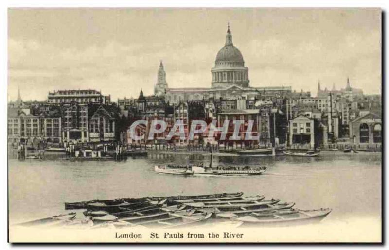 Grande Bretagne Great Britain CPA Londres London St Pauls from the river