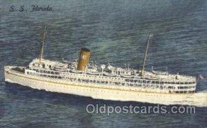 S.S. Florida Ocean Liner, Ocean Liners, Oceanliner Ship Ships Postcard Postca...