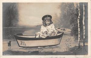 Little girl in boat Child, People Photo 1907