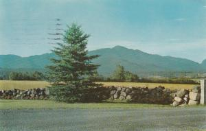 Mt Marcy and High Peaks from Lake Placid - Adirondacks, New York - pm 1961