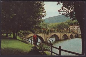 The Bridge of Flowers,Shelburne Falls,MA Postcard