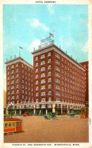 Minnesota Minneapolis Trolleys At Hotel Andrews Fourth Street & Hennepin Aven...