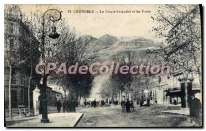 Postcard Grenoble Old Course and St Andre Les Forts