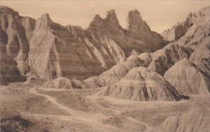 View Of Badlands Nat Monument South Dakota Albertype