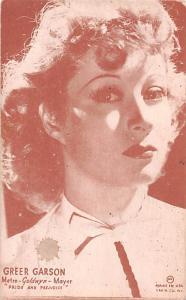 Greer Garson, Pride and Prejudice postcard Backing Unused