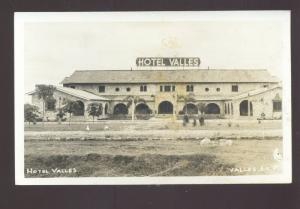 RPPC VALLES S.L.P. MEXICO HOTEL VALLES VINTAGE REAL PHOTO POSTCARD MEXICAN