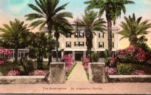 Florida St Augustine The Buckingham Hotel 1937 Handcolored Albertype