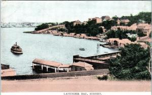 SYDNEY, Australia    View of LAVENDER BAY  1922  Postcard