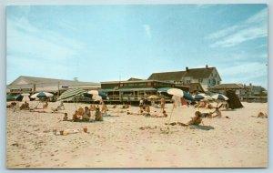 Postcard DE Rehoboth Beach Delaware Pete's Salt Water Taffy Boardwalk Shop AE11