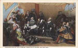 Embarkation Of The Pilgrims From Delft Haven 22 July 1620