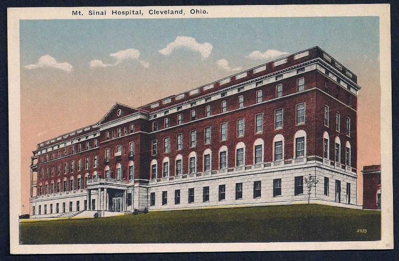 Mt Sinai Hospital Cleveland Ohio unused c1910's