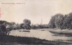Scenic view on Sioux River,  Canton,  South Dakota,   PU_ 1908
