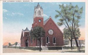 MANHEIM, Pennsylvania, 1910-1920s; Zion Lutheran Church