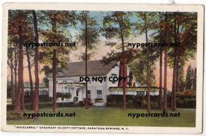 Inniscarra, Chauncey Olcott Cottage, Saratoga Springs NY