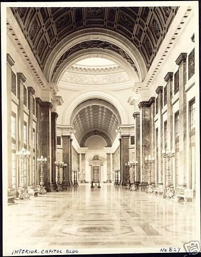 Washington, Interior Capitol Bldg. 30s Large Real Photo