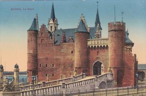 Castle, Le Steen, ANVERS (Antwerpen), Belgium, 1900-1910s