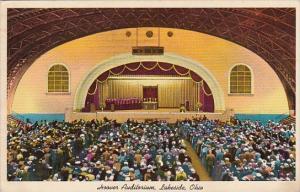 Interior Hoover Auditorium Lakeside Ohio 1965