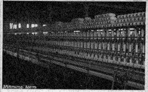 British industry Spinning Room Machine real photo Postcard