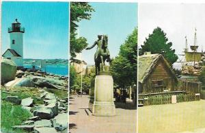 US Unused. Massachusetts  Beaches, Light Houses, Ships, Statues. . .