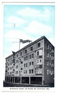 1924 Graymore Hotel, Portland, Maine Postcard *5N18