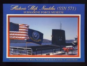 Groton, Conn/CT Postcard, Nautilus At Naval Submarine Base