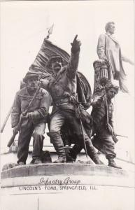 Infantry Group Statue Lincoln's Tomb Springfield Illinois Real Photo