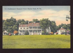 CHARLESTOWN WEST VIRGINIA FUNKHOUSER'S CLAYMONT COURT VINTAGE POSTCARD