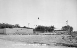 Crete Nebraska~Community Swimming Pool~Saline County~1950s RPPC-Postcard