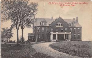 MT HERMAN MASSACHUSETTS SILLMAN LABORATORY BOY'S SCHOOL POSTCARD 1910s